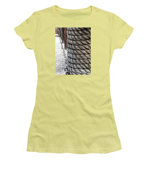 Women's T-Shirt (Junior Cut) featuring the photograph On The Marina - Photographic Art by Ella Kaye Dickey