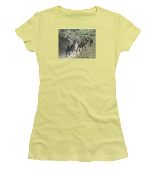 On The Road To Pushkar Women's T-Shirt (Athletic Fit)