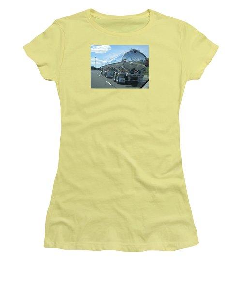 Women's T-Shirt (Junior Cut) featuring the photograph On The Way by Jieming Wang