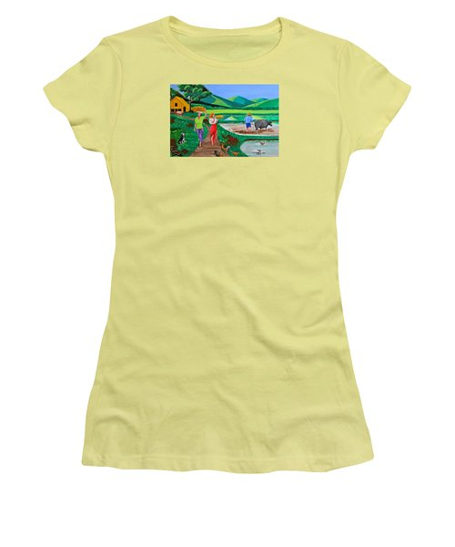One Beautiful Morning In The Farm Women's T-Shirt (Athletic Fit)