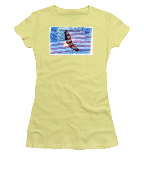 One Nation... Women's T-Shirt (Junior Cut) by Bob Hislop