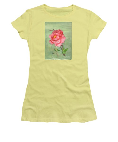 One Rose Women's T-Shirt (Junior Cut) by Pamela  Meredith
