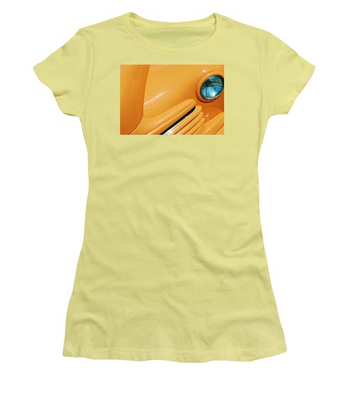 Orange Car Women's T-Shirt (Junior Cut) by Daniel Thompson