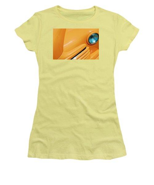 Orange Car Women's T-Shirt (Athletic Fit)