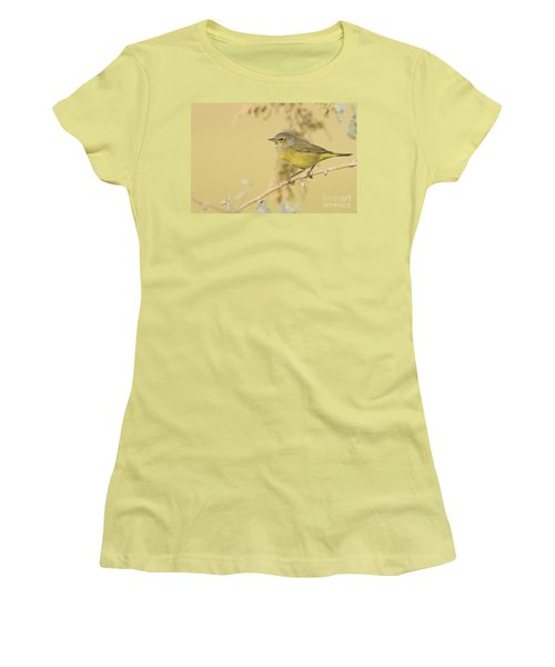 Orange Crowned Warbler Women's T-Shirt (Athletic Fit)