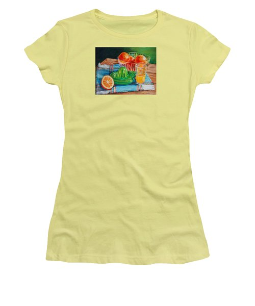 Oranges Women's T-Shirt (Junior Cut) by Joy Nichols