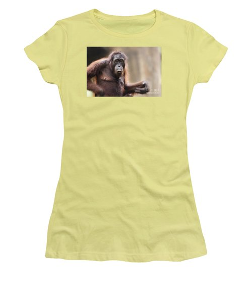 Orangutan Women's T-Shirt (Junior Cut) by Richard Garvey-Williams