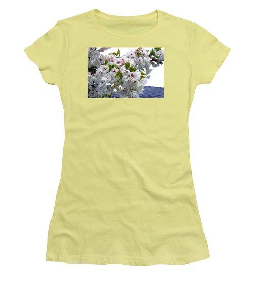 Oregon Cherry Blossoms Women's T-Shirt (Junior Cut) by Will Borden