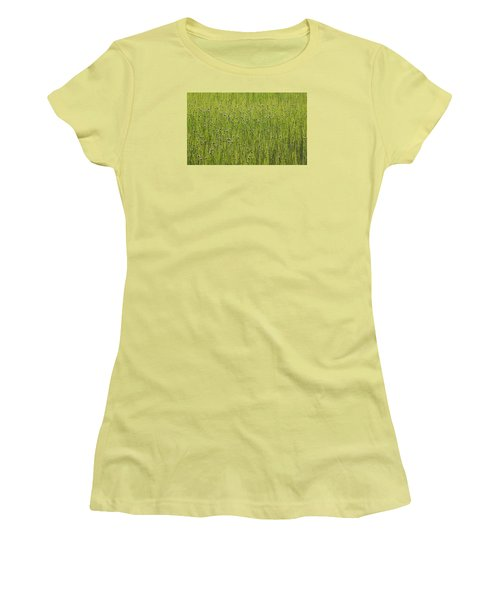 Organic Green Grass Backround Women's T-Shirt (Athletic Fit)