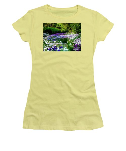Oriental Ensata Iris Garden Women's T-Shirt (Athletic Fit)