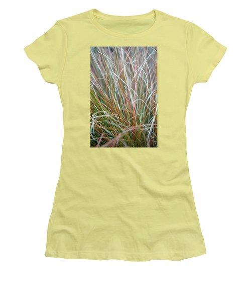 Ornamental Grass Abstract Women's T-Shirt (Junior Cut) by E Faithe Lester