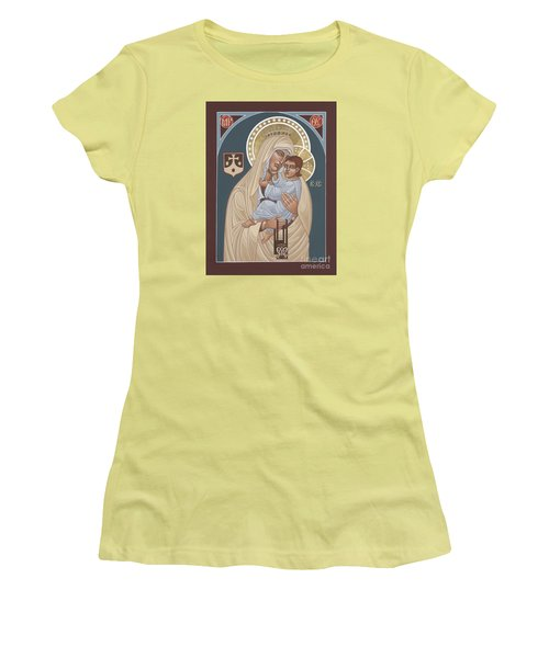 Women's T-Shirt (Junior Cut) featuring the painting Our Lady Of Mt. Carmel 255 by William Hart McNichols