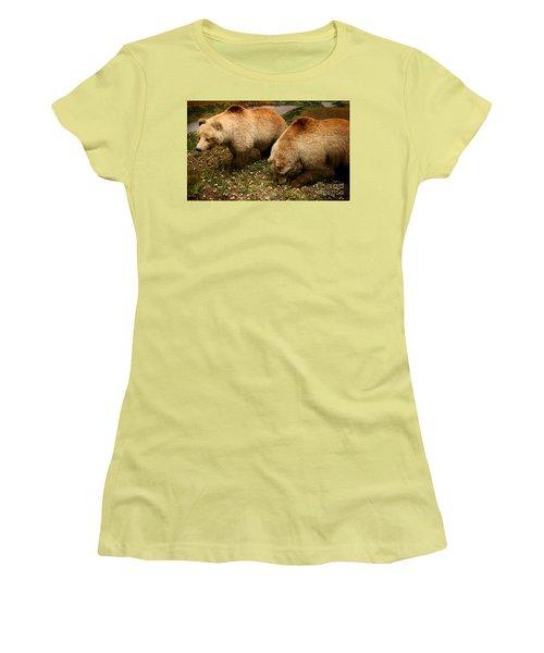 Out Of Hibernation Women's T-Shirt (Junior Cut) by David Millenheft