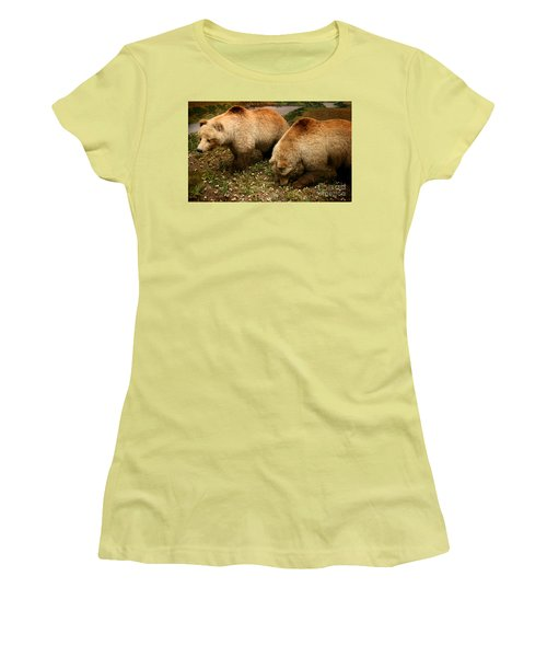 Out Of Hibernation Women's T-Shirt (Athletic Fit)