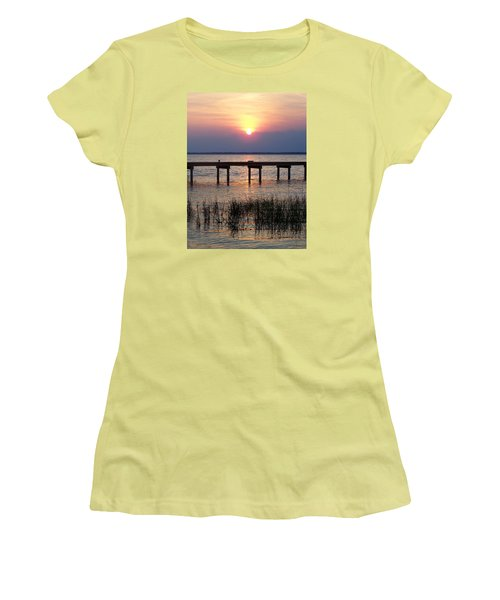 Women's T-Shirt (Junior Cut) featuring the photograph Outerbanks Nc Sunset by Sandi OReilly