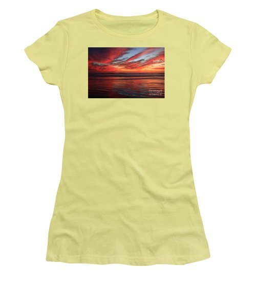 Women's T-Shirt (Athletic Fit) featuring the photograph Oceanside Reflections by John F Tsumas