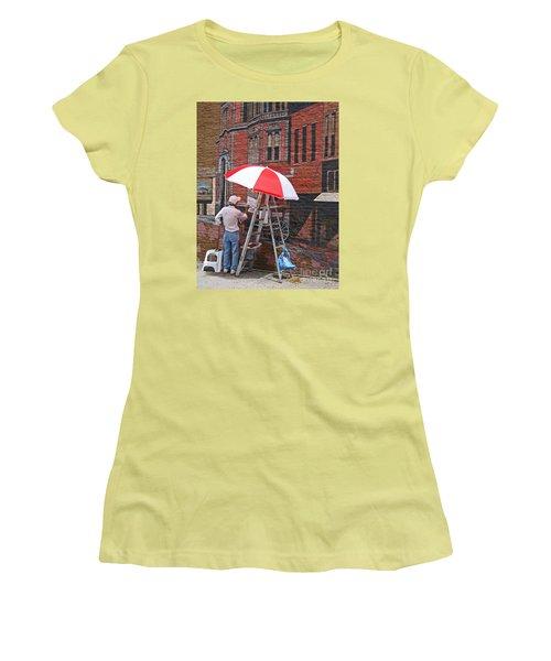 Painting The Past Women's T-Shirt (Junior Cut) by Ann Horn