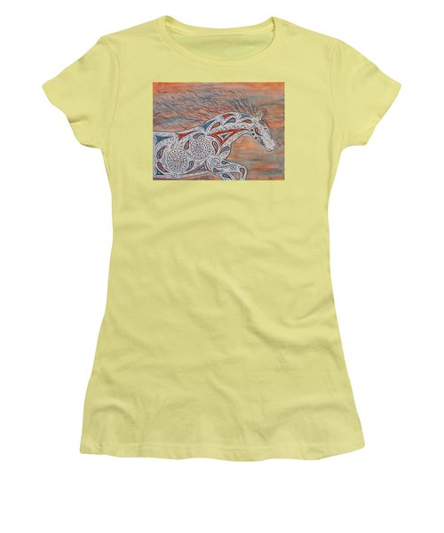 Women's T-Shirt (Junior Cut) featuring the painting Paisley Spirit by Susie WEBER