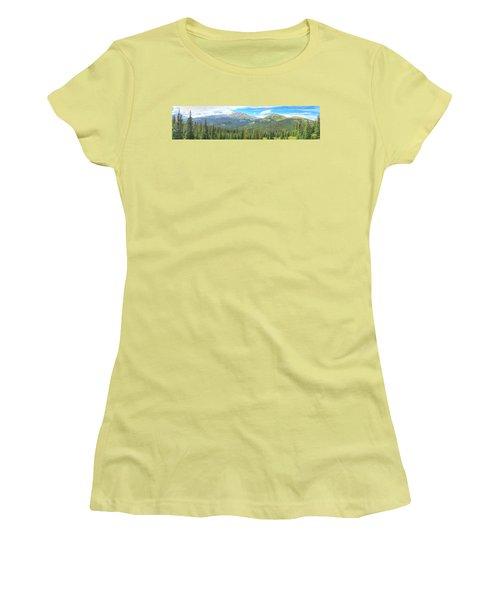 Panoramic Boreas Pass Women's T-Shirt (Junior Cut) by Lanita Williams