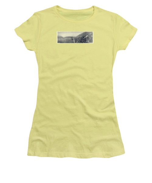 Panoramic Photo Of Harvard  Dartmouth Football Game Women's T-Shirt (Athletic Fit)
