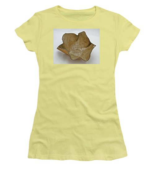 Women's T-Shirt (Junior Cut) featuring the sculpture Paper-thin Bowl  09-010 by Mario Perron