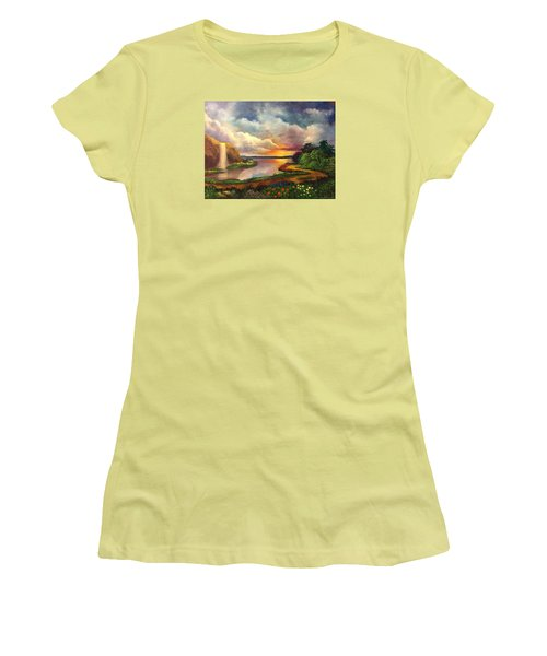 Paradise And Beyond Women's T-Shirt (Junior Cut) by Randy Burns
