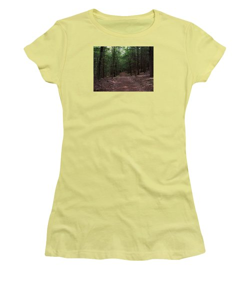 Path In The Woods Women's T-Shirt (Junior Cut) by Catherine Gagne