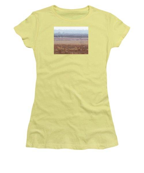 Women's T-Shirt (Junior Cut) featuring the photograph Paynes Prairie White Birds by Paul Rebmann