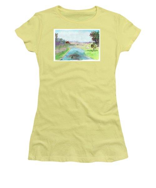 Peaceful Day Women's T-Shirt (Junior Cut) by C Sitton