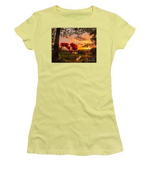 Women's T-Shirt (Junior Cut) featuring the photograph Peaceful Poppy by Rose-Maries Pictures