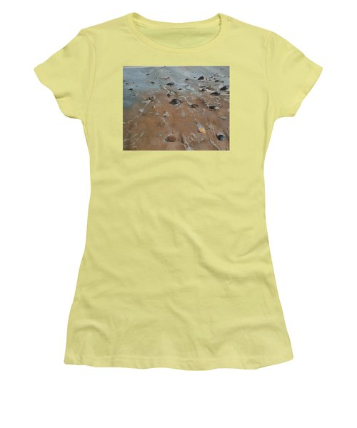 Women's T-Shirt (Junior Cut) featuring the painting Pebbles by Cherise Foster
