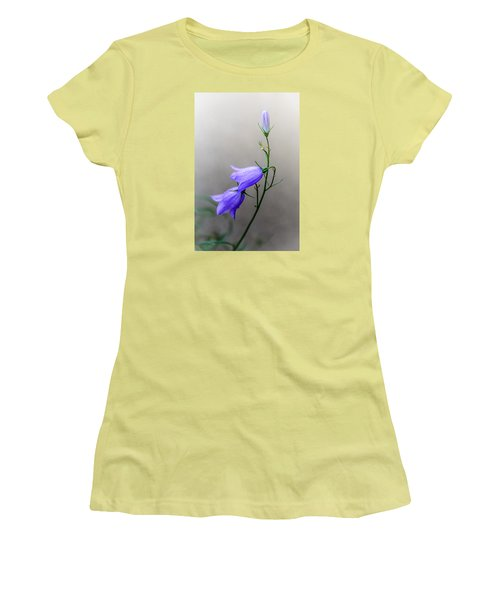 Blue Bells Peeking Through The Mist Women's T-Shirt (Junior Cut) by Debra Martz