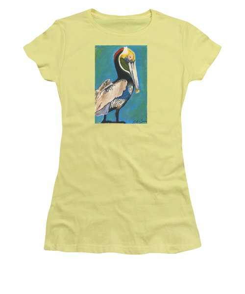 Pelican Blue Women's T-Shirt (Athletic Fit)