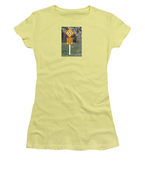 Penguins Crossing Oamaru Women's T-Shirt (Athletic Fit)