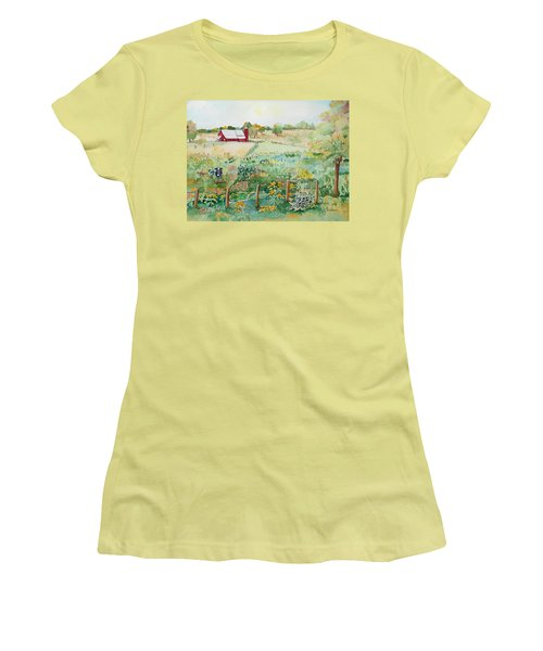 Pennsylvania Pasture Women's T-Shirt (Junior Cut) by Christine Lathrop