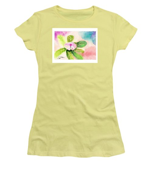 Women's T-Shirt (Junior Cut) featuring the painting Periwinkle by C Sitton