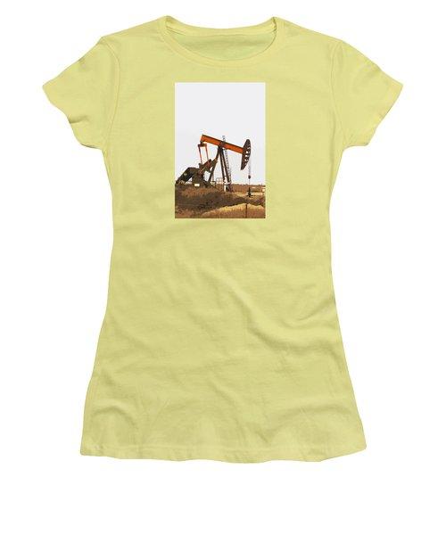 Petroleum Pumping Unit Women's T-Shirt (Junior Cut) by Art Block Collections