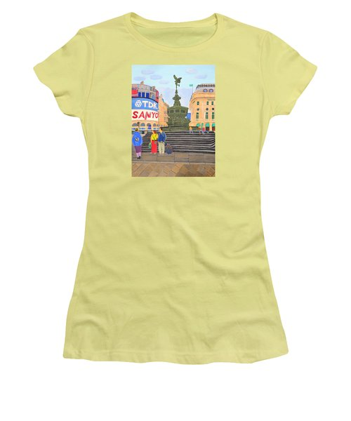 London- Piccadilly Circus Women's T-Shirt (Junior Cut) by Magdalena Frohnsdorff