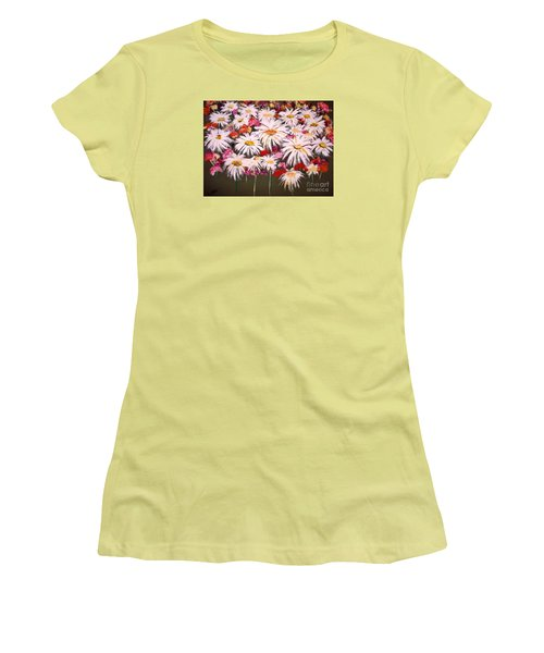 Women's T-Shirt (Junior Cut) featuring the painting Pick One For Me by Lori  Lovetere