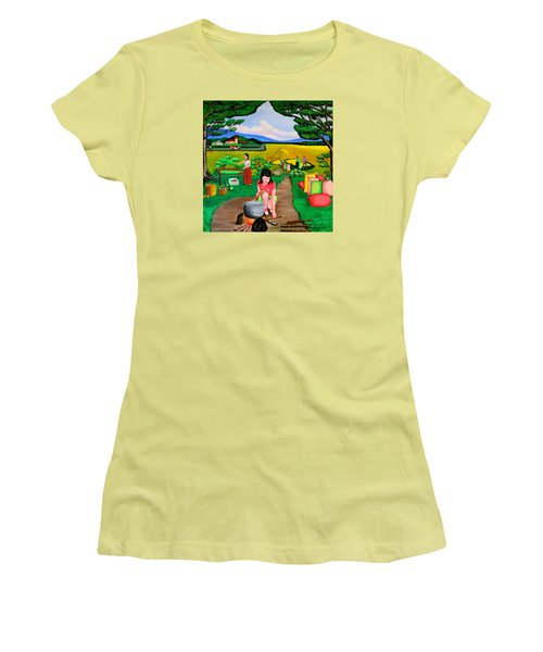 Picnic With The Farmers Women's T-Shirt (Junior Cut) by Cyril Maza