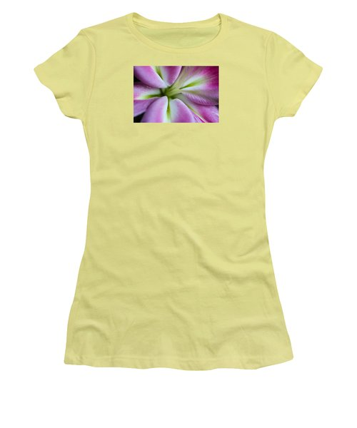 Pink Asiatic Lily Women's T-Shirt (Athletic Fit)