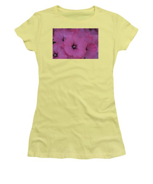 Pink Petunia Women's T-Shirt (Athletic Fit)