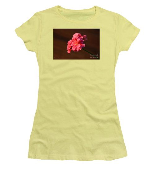 Women's T-Shirt (Junior Cut) featuring the photograph Pink by Ramona Matei