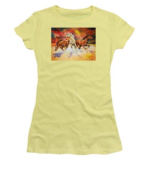 Plains Thunder Women's T-Shirt (Junior Cut) by Al Brown