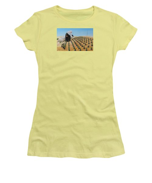 Planting Flowers Women's T-Shirt (Athletic Fit)