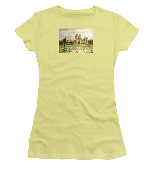 Plein Air Painting At Cowdray House Sussex Women's T-Shirt (Junior Cut) by Angela Davies