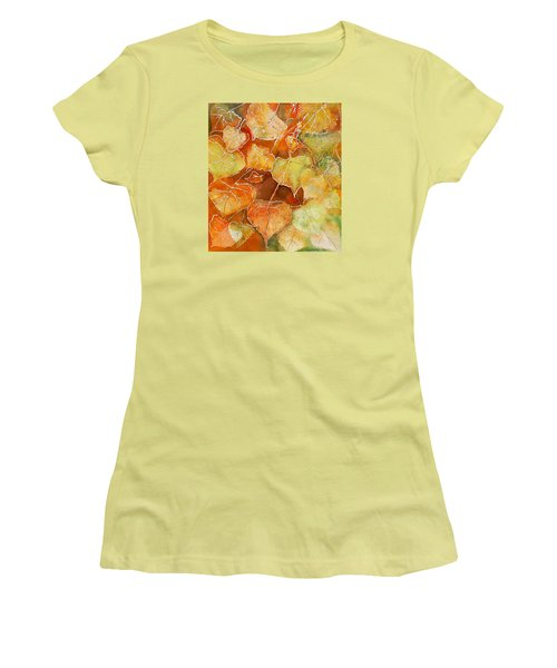 Poplar Leaves Women's T-Shirt (Athletic Fit)