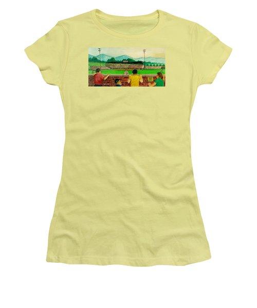 Portsmouth Athletics Vs Muncie Reds 1948 Women's T-Shirt (Athletic Fit)
