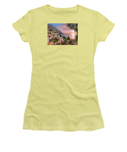 Positano Women's T-Shirt (Junior Cut) by Dominic Davison