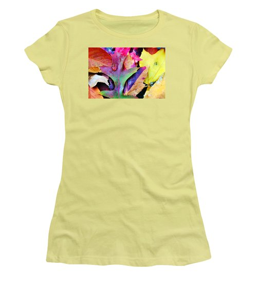 Women's T-Shirt (Junior Cut) featuring the photograph Primary Colors Of Fall by Judy Palkimas